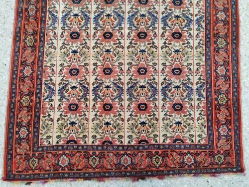Fine Senneh Rug In Kork Wool Iran End Of 19th -
