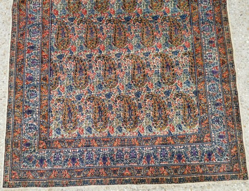 Tapestry & Carpet  - Kirman In Kork Wool 19th Century Iran