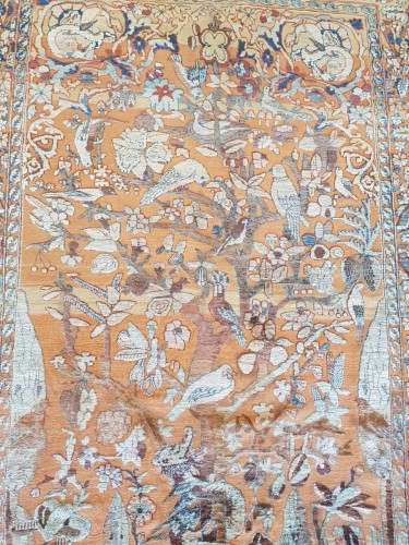 Rare And Fine Kirman Soof In Silk - Middle Persia 19th Century - Tapestry & Carpet Style