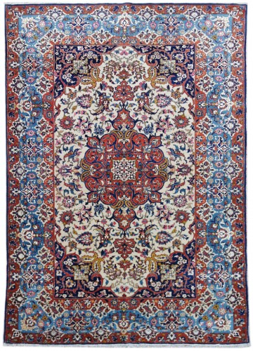 Isfahan Wool And Silk Rug - Iran Late 19th century