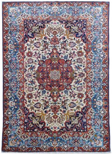 Isfahan Wool And Silk Rug - Iran Late 19th century