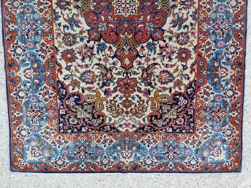 Isfahan Wool And Silk Rug - Iran Late 19th century - Tapestry & Carpet Style