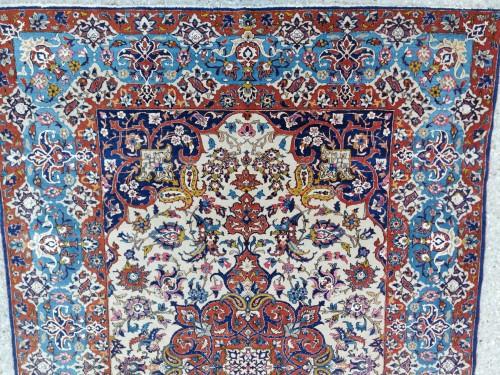 Isfahan Wool And Silk Rug - Iran Late 19th century -