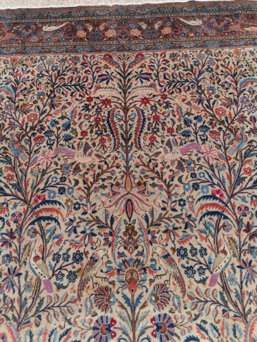 19th century - Rug Kachan Dabir Kork Wool - Iran Late 19th