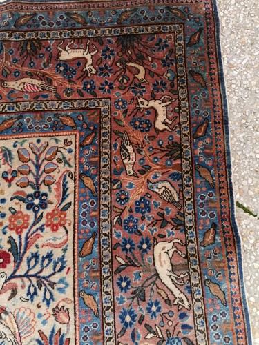 Rug Kachan Dabir Kork Wool - Iran Late 19th -