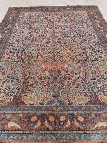 - Rug Kachan Dabir Kork Wool - Iran Late 19th