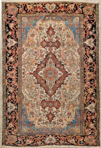 Ferahan Wool Kork Silky Rug - Iran Late 19th