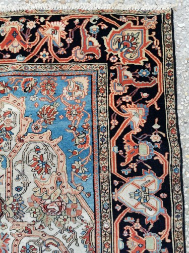 Ferahan Wool Kork Silky Rug - Iran Late 19th - Tapestry & Carpet Style