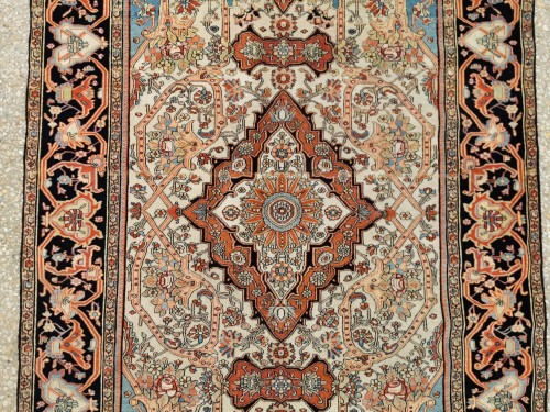 Ferahan Wool Kork Silky Rug - Iran Late 19th -