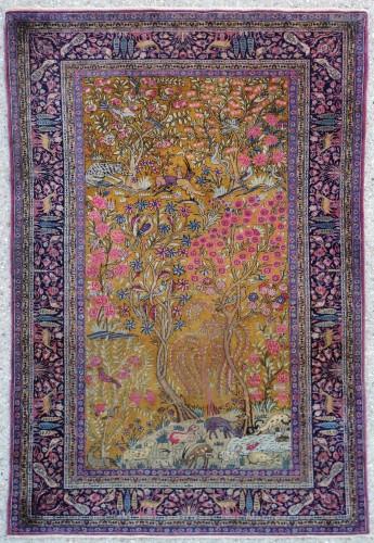 Kashan Carpet In Kork Wool Extra Fine Quality - Around 1880