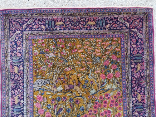 Kachan Carpet In Kork Wool Extra Fine Quality - Around 1880 - Tapestry & Carpet Style