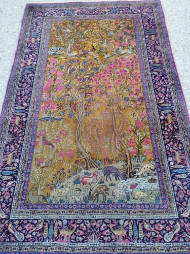 Kachan Carpet In Kork Wool Extra Fine Quality - Around 1880 -