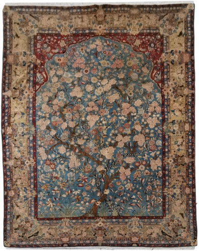 Kachan Dabir Carpet In Kork Wool - Iran Late 19th century