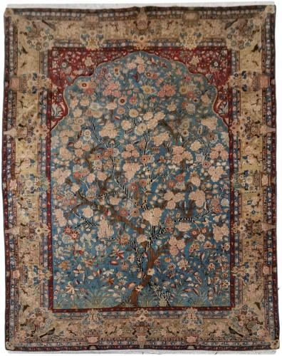 Kashan Dabir Carpet In Kork Wool - Iran Late 19th century