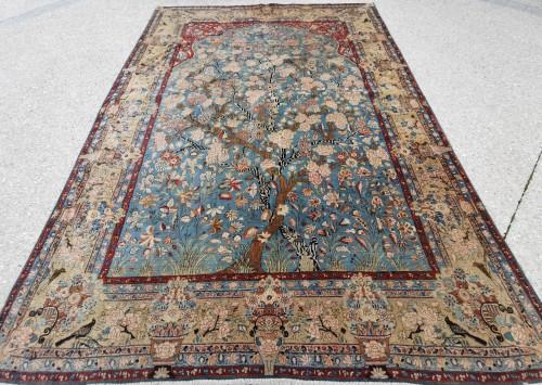 Tapestry & Carpet  - Kachan Dabir Carpet In Kork Wool - Iran Late 19th century