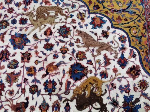 Important Carpet - Tabriz In Kork Wool - Iran Circa 1880 - Tapestry & Carpet Style