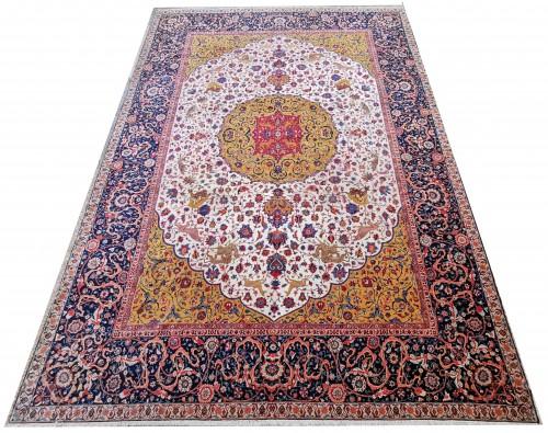 Important Carpet - Tabriz In Kork Wool - Iran Circa 1880 -