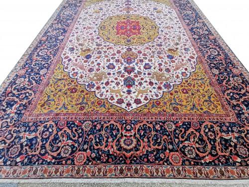 - Important Carpet - Tabriz In Kork Wool - Iran Circa 1880