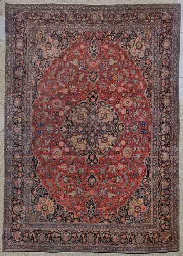 Large Kachan Gazbhy Carpet In Kork Wool - Iran Late 19th