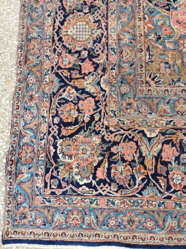 Large Kachan Manchester Carpet In Kork Wool - Iran Late 19th - Tapestry & Carpet Style