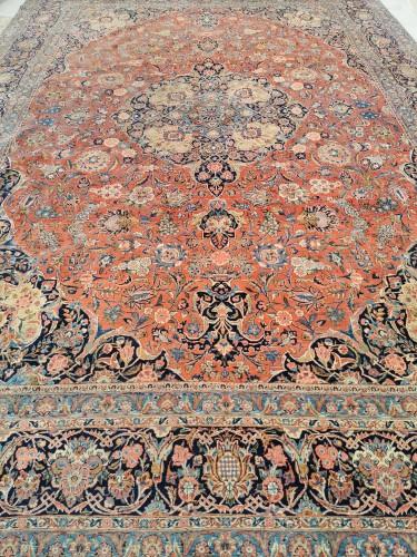 Tapestry & Carpet  - Large Kachan Manchester Carpet In Kork Wool - Iran Late 19th