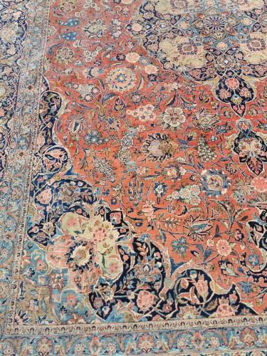 Large Kachan Manchester Carpet In Kork Wool - Iran Late 19th -