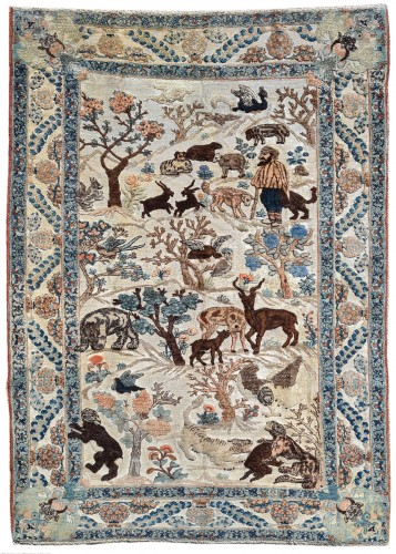 Kork wool Carpet Tabriz Soof - Iran 19th Century
