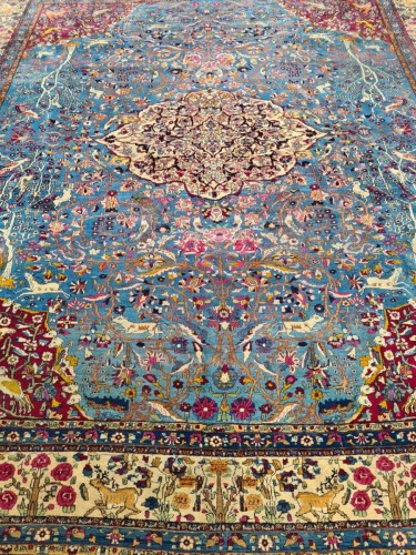 Fine Tehran In Kork Wool On Cotton Foundation - Iran Circa 1880 - Tapestry & Carpet Style