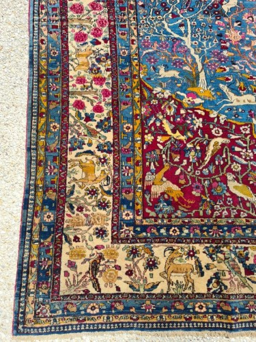 Tapestry & Carpet  - Fine Tehran In Kork Wool On Cotton Foundation - Iran Circa 1880