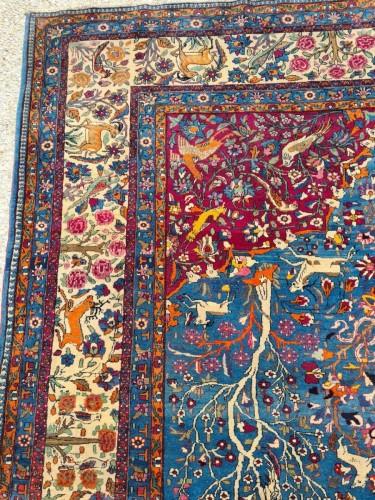 19th century - Fine Tehran In Kork Wool On Cotton Foundation - Iran Circa 1880