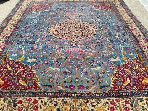 - Fine Tehran In Kork Wool On Cotton Foundation - Iran Circa 1880