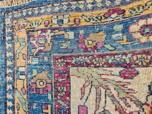 Antiquités - Fine Tehran In Kork Wool On Cotton Foundation - Iran Circa 1880