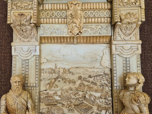 Exceptional and Important Ivory Panel - The Siege of Breda (1624) - France early 19th century - Sculpture Style Empire