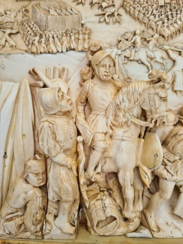 Sculpture  - Exceptional and Important Ivory Panel - The Siege of Breda (1624) - France early 19th century
