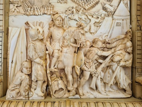 Exceptional and Important Ivory Panel - The Siege of Breda (1624) - France early 19th century -