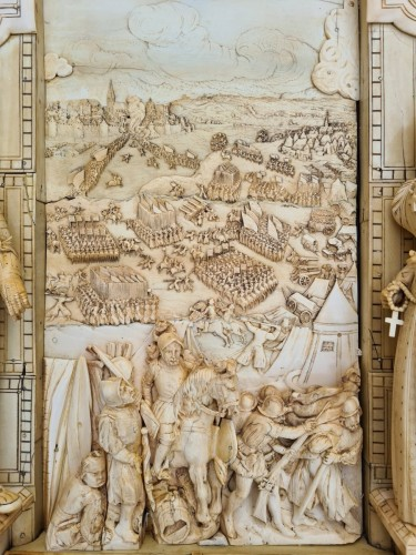 18th century - Exceptional and Important Ivory Panel - The Siege of Breda (1624) - France early 19th century