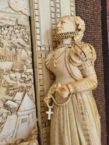 Exceptional and Important Ivory Panel - The Siege of Breda (1624) - France early 19th century - Empire