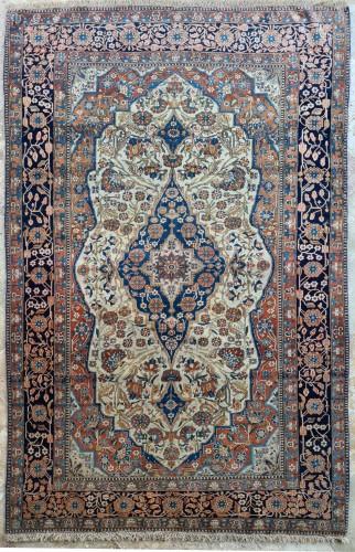 Kachan Mortachem Rug - Kork Wool - Iran 19th Century