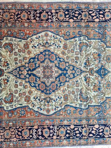 Kachan Mortachem Rug - Kork Wool - Iran 19th Century -