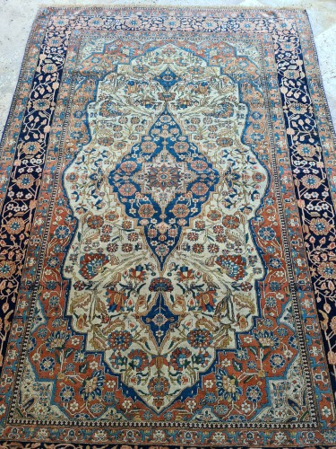 - Kachan Mortachem Rug - Kork Wool - Iran 19th Century