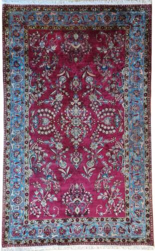Rare Silk Kachan Rug - Iran Circa 1880