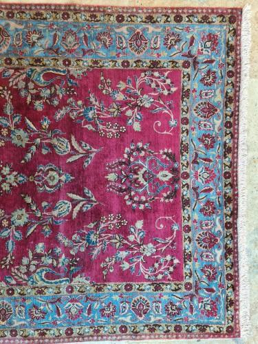 Rare Silk Kachan Rug - Iran Circa 1880 - Tapestry & Carpet Style