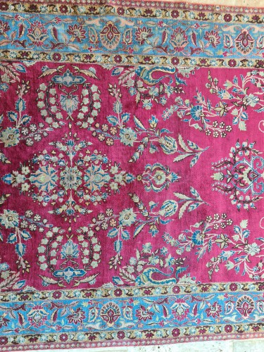 Tapestry & Carpet  - Rare Silk Kachan Rug - Iran Circa 1880
