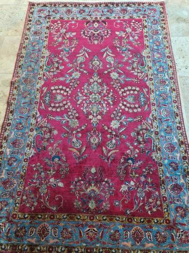 19th century - Rare Silk Kachan Rug - Iran Circa 1880