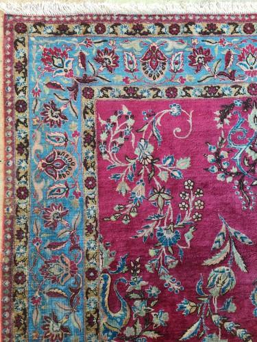 Rare Silk Kachan Rug - Iran Circa 1880 -