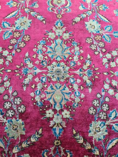- Rare Silk Kachan Rug - Iran Circa 1880