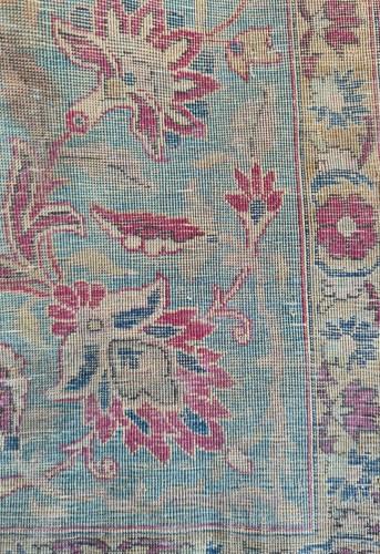 Antiquités - Rare Silk Kachan Rug - Iran Circa 1880
