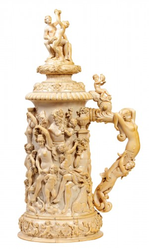 Ivory Tankard : Dionysian Feast - Germany 19th