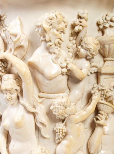 Objects of Vertu  - Ivory Tankard : Dionysian Feast - Germany 19th