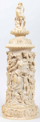 Antiquités - Ivory Tankard : Dionysian Feast - Germany 19th